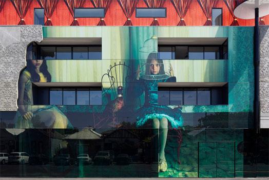 Masquerade by Samantha Everton adorns a building in Australia