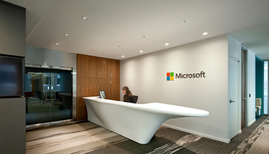 microsoft office design. organic and aerodynamic reception desk microsoft office design r