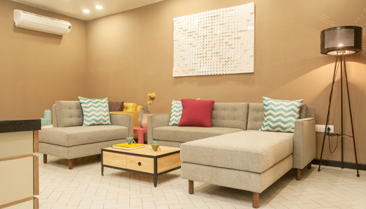 subtle earthy living room