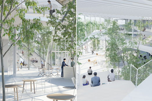 interstitial spaces - 'Offices with Terraces' designed by Nicolas Laisné Associés