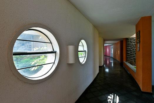 corridor with round ventilation windows
