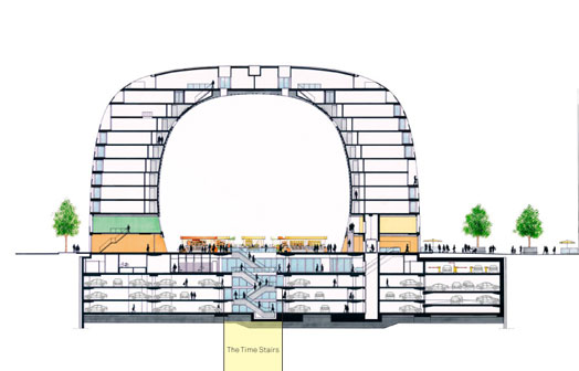 Markthal in section