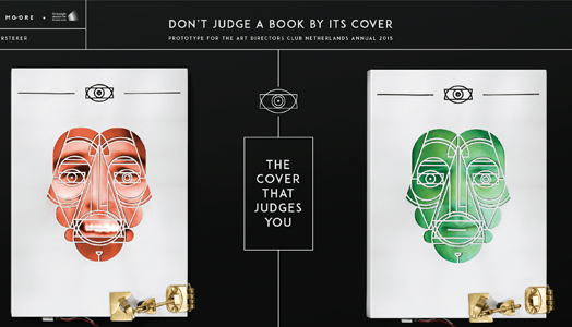 India Art n Design features 'The Cover That Judges You' by Thijs Biersteker of Amsterdam experience design company, Moore in collaboration with thispagecannotbefound.com