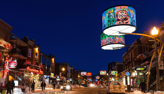 India Art n Design features Giant Lighting in Quebec City by Lightemotion