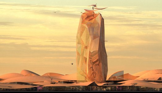 India Art n Design features Morocco's City Sand Tower by Manal Rachdi Oxo Architects & Nicolas laisne Associes
