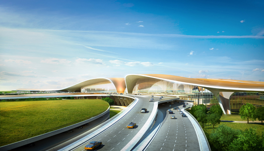 India Art n Design features proposed New Airport terminal, Beijing by ADPI & ZHA