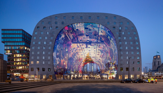 India Art n Design features market-housing hybrid Markthal in Rotterdam by MVRDV