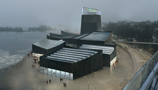 view from the palace hotel - guggenheim helsinki museum