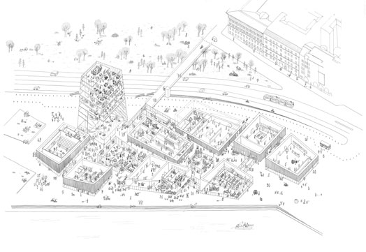 drawing for competition entry guggenheim helsinki - moreau kusunoki
