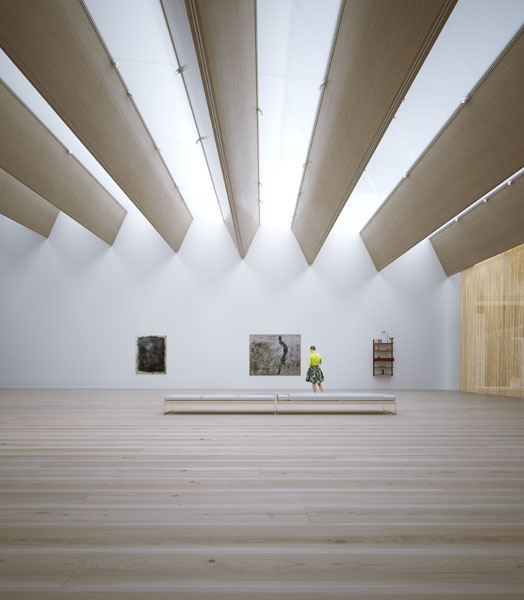 exhibition hall at guggenheim helsinki museum