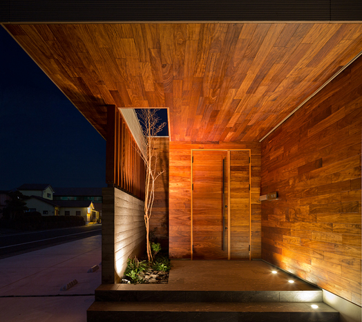 timber clad entrance