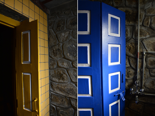 colourful interior doors