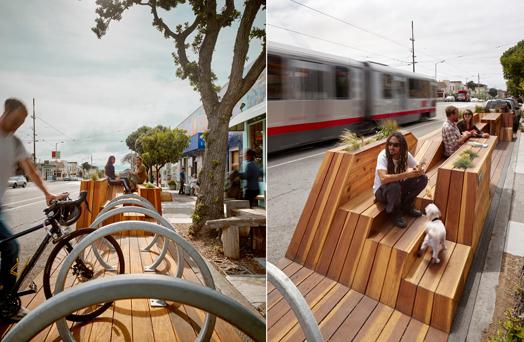 street furniture - sunset parklet