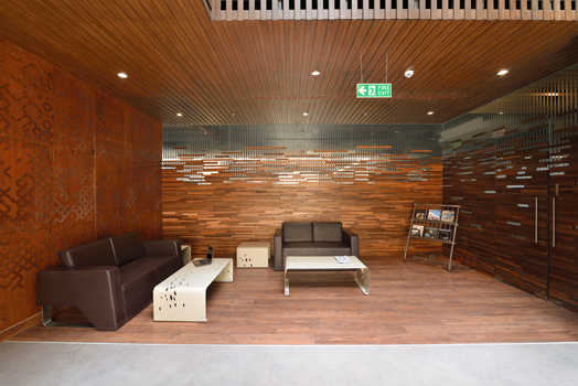natural materials used for wall cladding