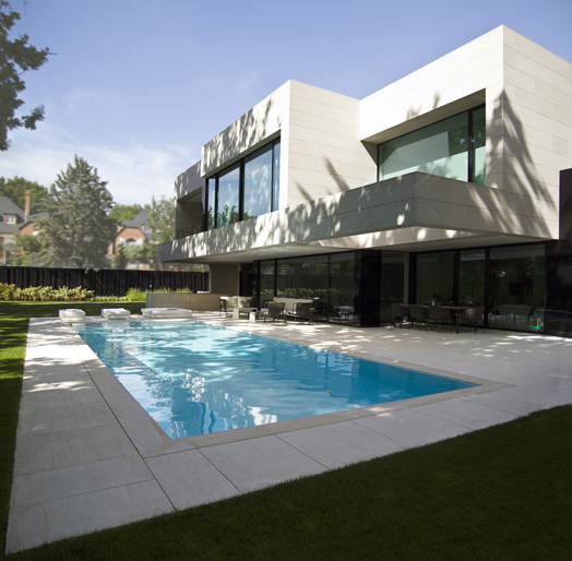 house with outdoor pool area