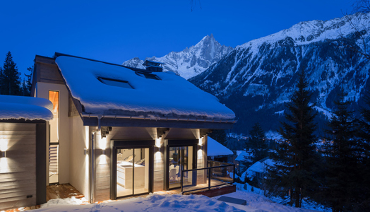 chalet DAG in the Alps