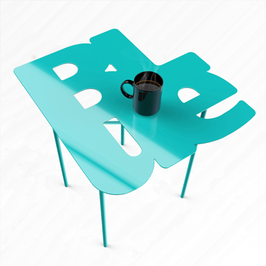 Blue Table by Hardik Gandhi