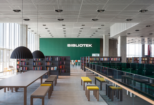 interiors of library building at dokk1