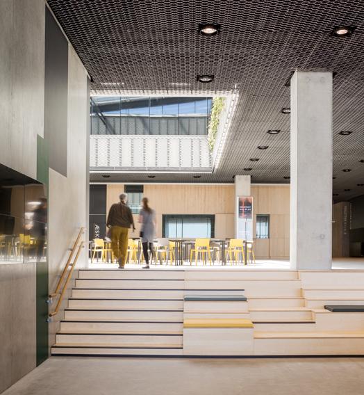 interiors at dokk1 in Denmark - polygonal library buliding
