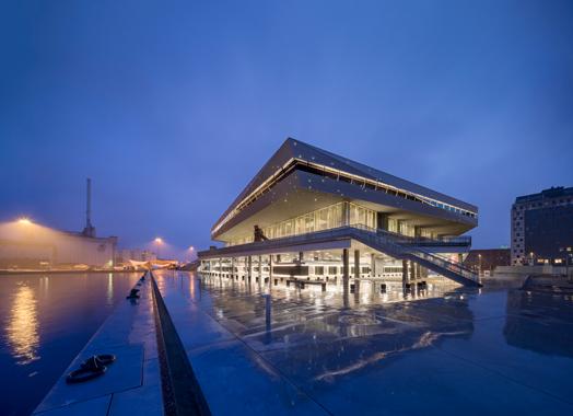 dokk1 in Denmark - polygonal library buliding