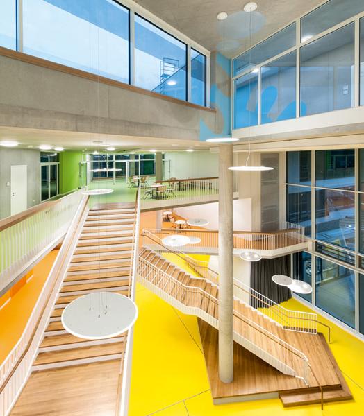 atrium and stairs at Ergolding
