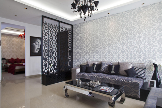 India Art n Design features Tulip show flat, Gurgaon by designcosmos