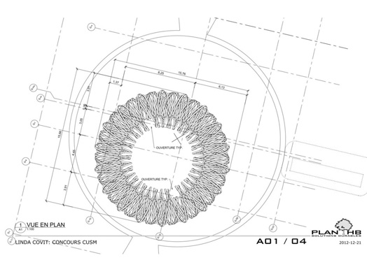 conceptual drawing of Havre public art sculpture by Linda Covit