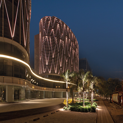 largest LED facade in India at Mondeal Square Ahmedabad by Blocher & Blocher