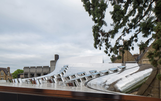 steel cladding on roof