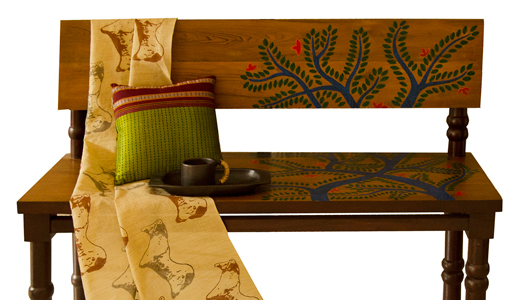 gond paintings on furniture
