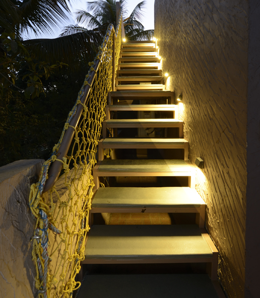 stairs leading to the terrace