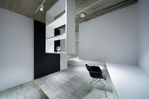 cantilevered shelves - part of floating walls