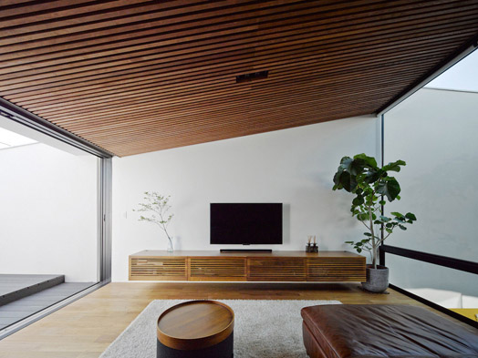 living area opening out to the courtyard