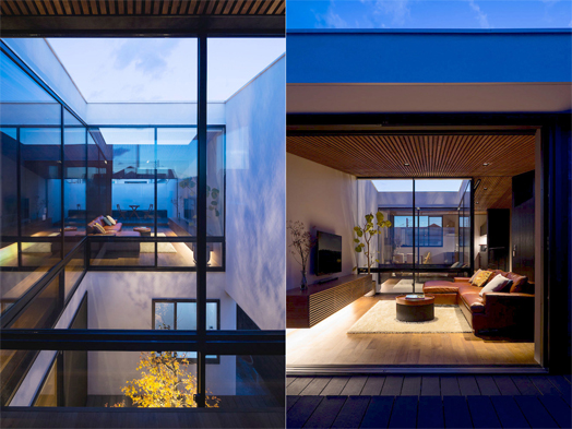 glass walls enhance open-ness