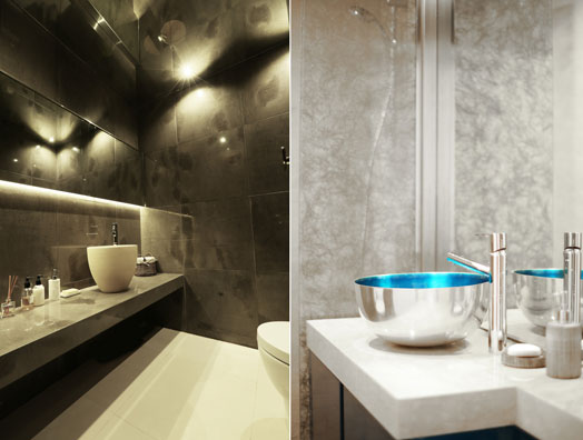 luxurious glamour retreats - plush bathrooms