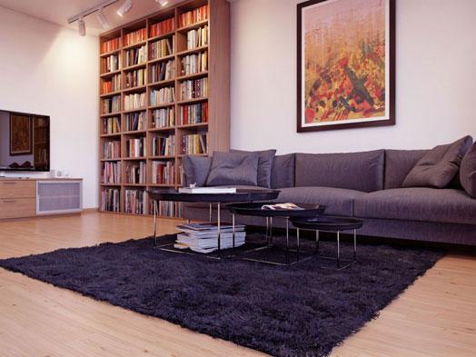deep pile shaggy rug