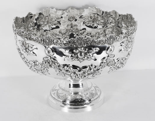 Gorgeous silver plated punch bowl floral decoration  sc 1 st  India Art n Design inditerrain & India Art n Design inditerrain: Auspicious Silver