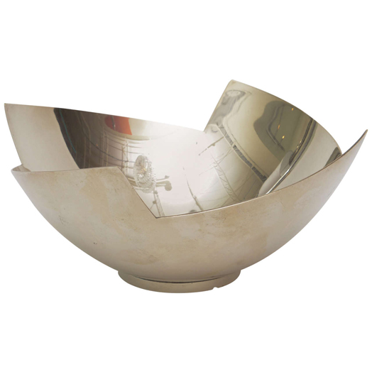 contemporary silver bowl