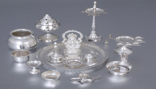 silver ware for religious ceremonies