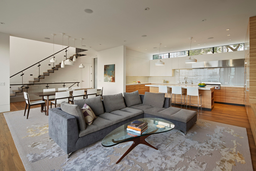 expansive living room