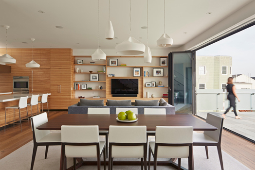 open plan layout - dining area