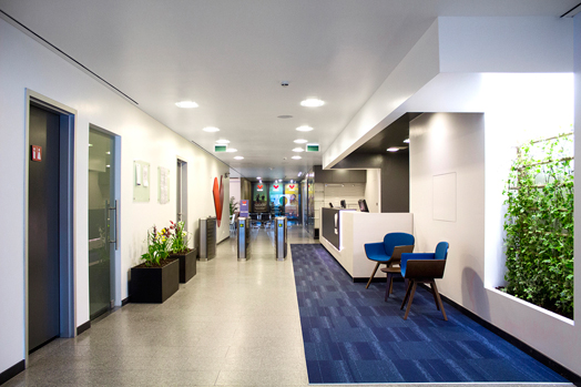 Tonik health club reception area