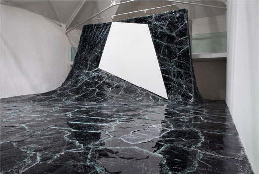Dark Matter - glass sculpture by Baptiste Debombourg