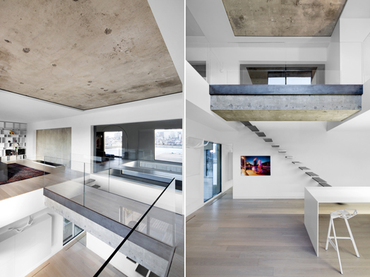 exposed concrete as modern lifestyle aesthetic