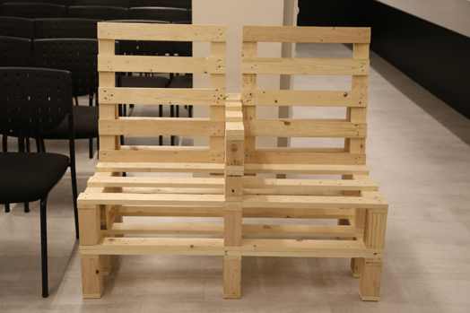 chairs made of wooden pallets