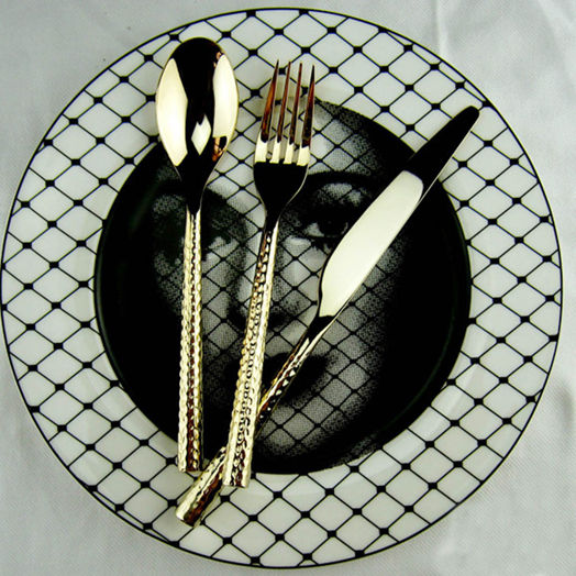 stylish black tableware