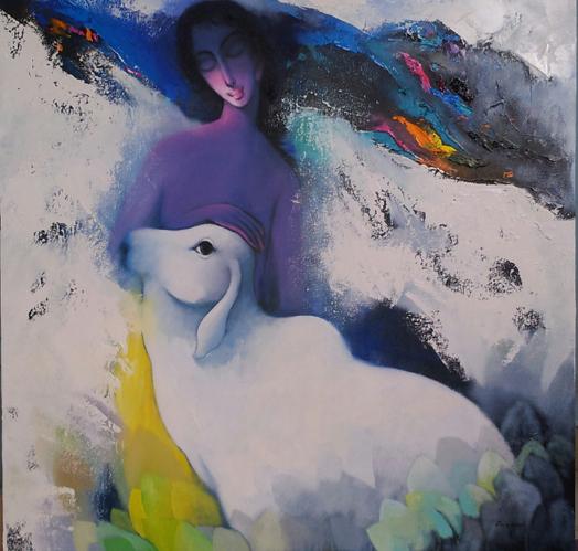 painting by Eknath Giram
