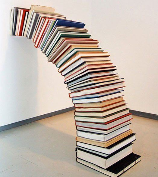 clever and engaging book arrangement
