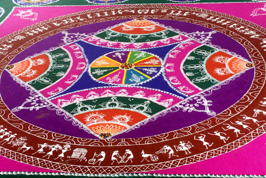 example of traditional indian design - rangoli