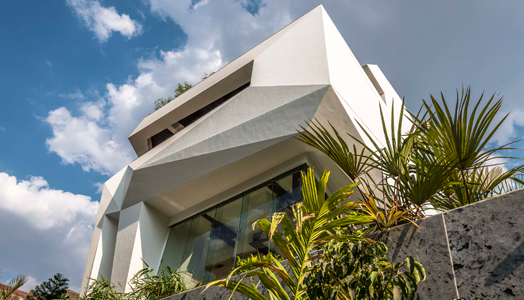 Origami house in Pune by Sanjay Puri Architects
